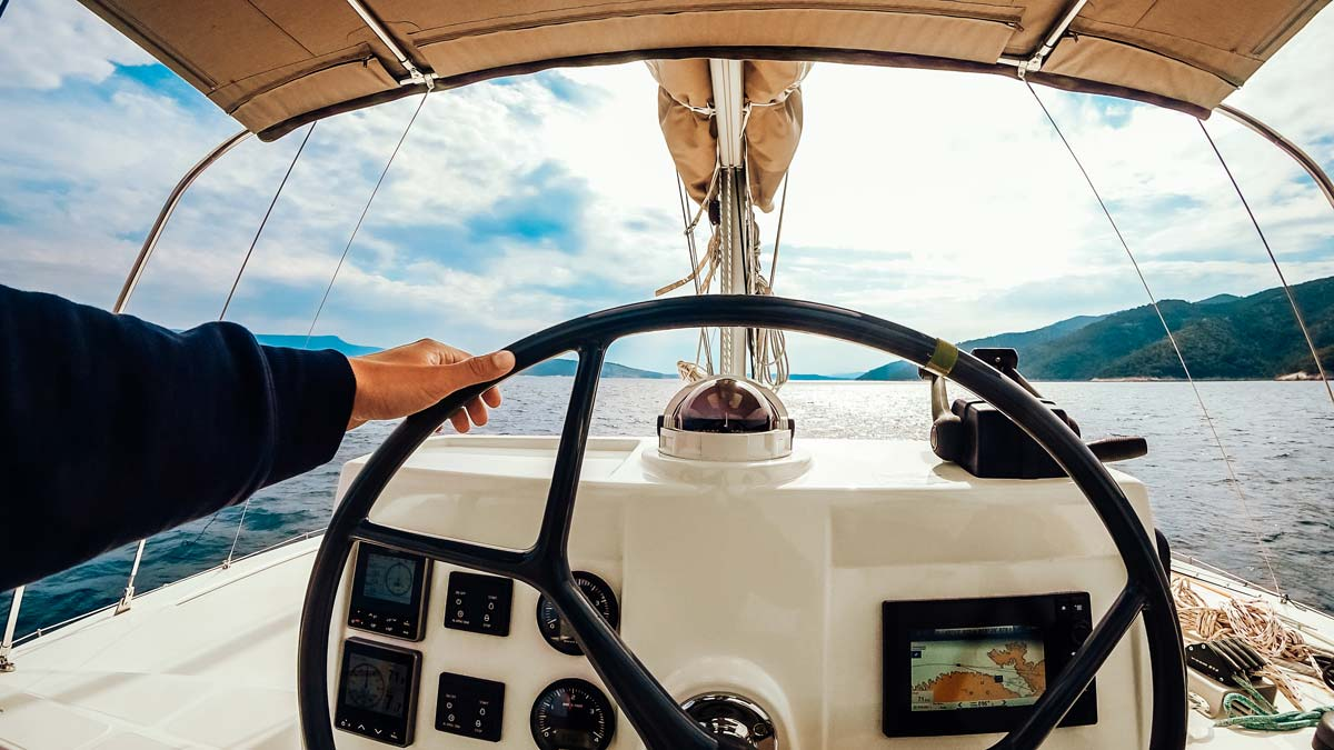 skipper sail the ionian sea